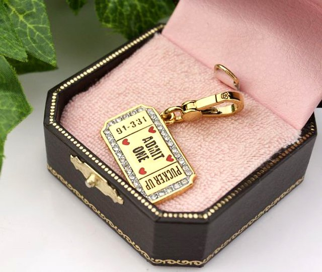Juicy Couture Kissing Booth Ticket Charm