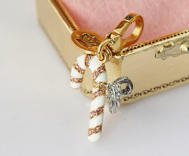 Juicy Coture 2007 Limited Edition Gold Candy Cane Charm