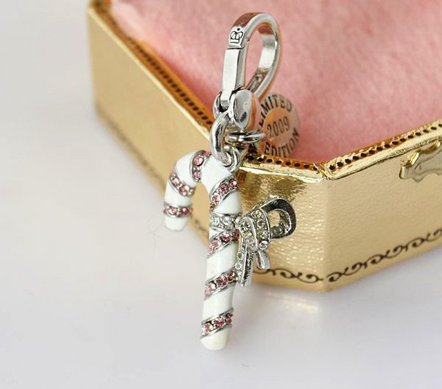 Juicy Couture 2009 Limited Edition Silver Candy Cane Charm