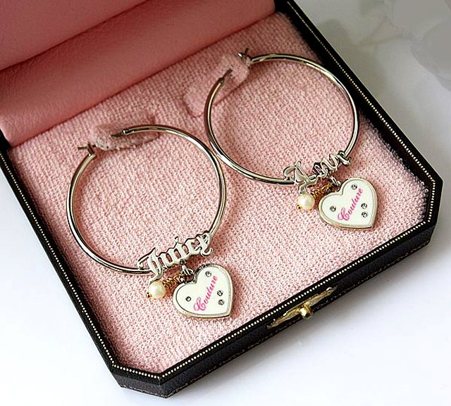 Juicy Couture Love Juicy Boxed Hoop Earrings