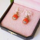 Juicy Couture Red Tulip Drop Earrings