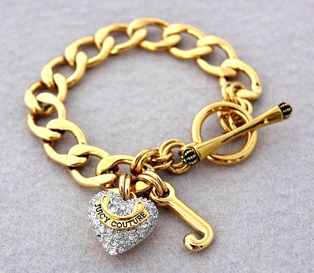 Juicy Couture Pave Gold Starter Bracelet