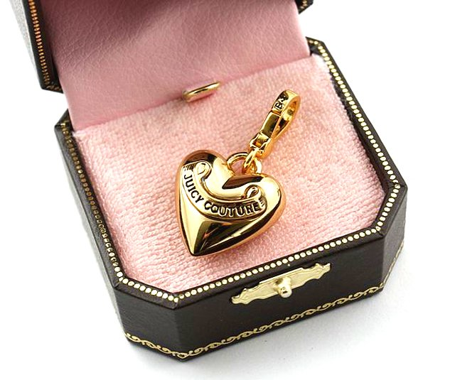 Juicy Couture Gold Puff Heart Charm
