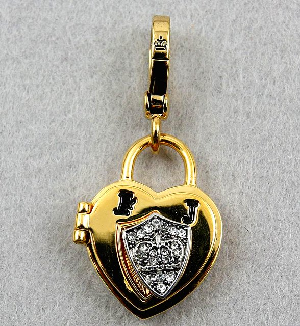Juicy Couture Heart Padlock Charm