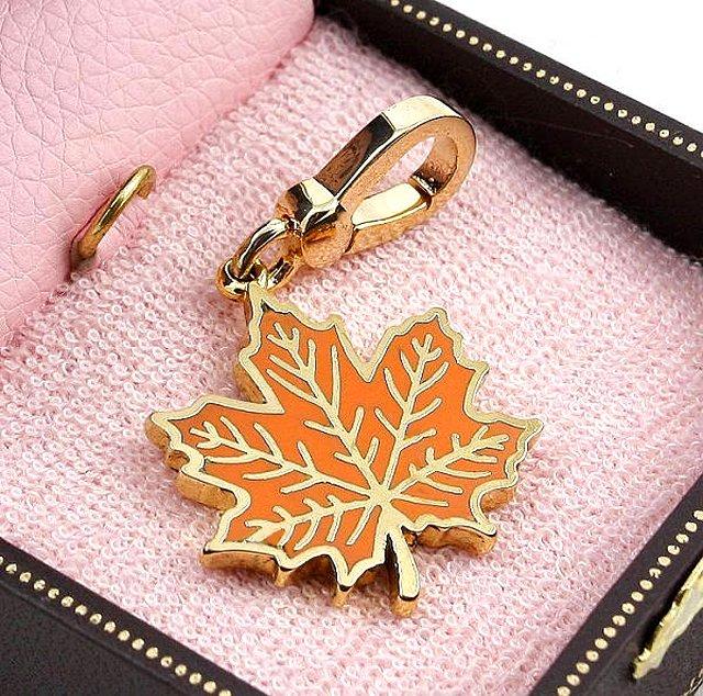 Juicy Couture Autumn Maple Leaf Charm