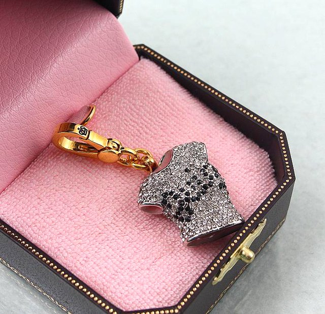 Juicy Couture 2007 Pave Crystal Tee Shirt Charm (retired)
