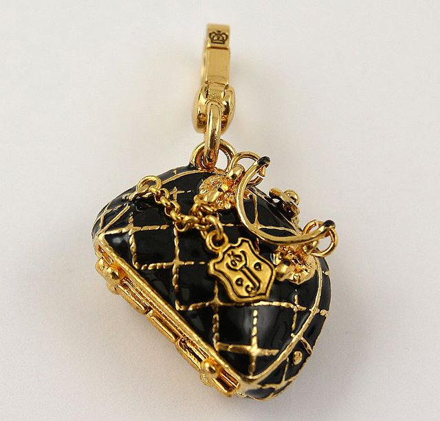 Juicy Couture Quilted Bowler Bag Charm