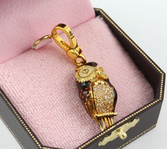 Juicy Couture Pave Owl Charm