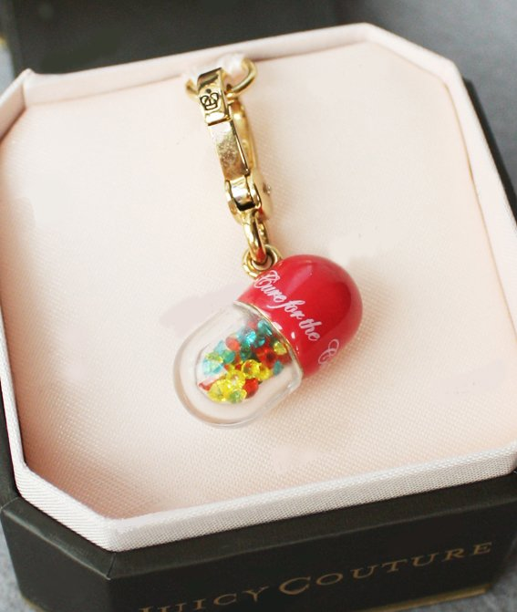 Juicy Couture Pill Small Charm Pendant