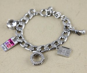 Juicy Couture Silvertone Music Charms Bracelet