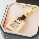 Juicy Couture Yorkie Dog in Pink Shopping Bag Charm