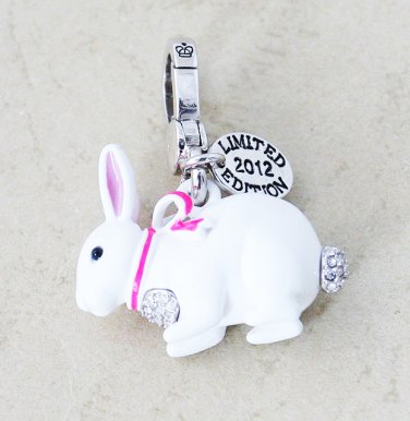 Juicy Couture 2012 Limited Edition Snow Bunny Charm Pendant