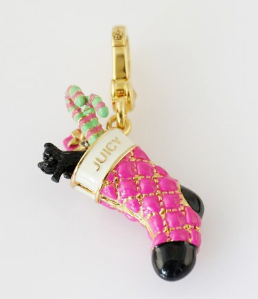 Juicy Couture 14K Gold Plated Christmas Stocking Charm Pendant