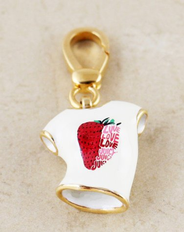 Juicy Couture Berry T-Shirt Charm Pendant