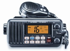 Icom M422 Black Fully Featured Compact Marine VHF