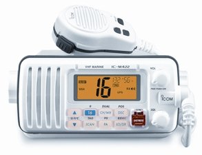 Icom M422 White Fully Featured Compact Marine VHF