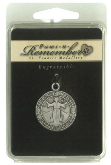 St. Francis of Assisi-Protect my Pet medallion