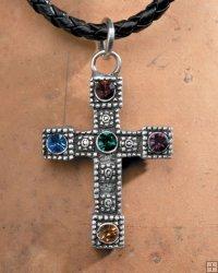 Rawcliffe jeweled cross pendant