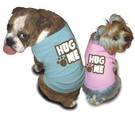 Ruff Ruff and Meow doggie tee-Hug Me
