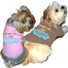 Ruff Ruff and Meow doggie tee-I'm not fat just fluffy