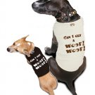 Ruff Ruff and Meow doggie tee-Can I get a Woof Woof!