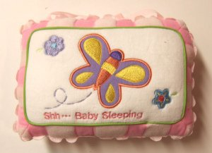 Baby Girl Pillow Door Hanger