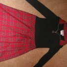 Black/red plaid dress