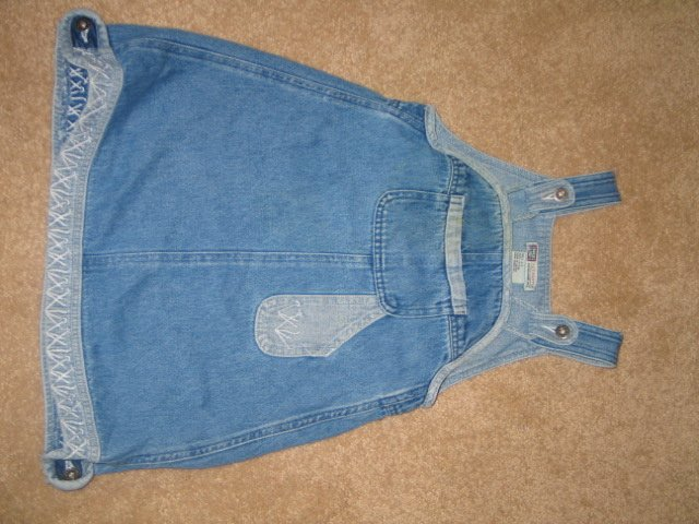 Jean Overall dress w/pocket
