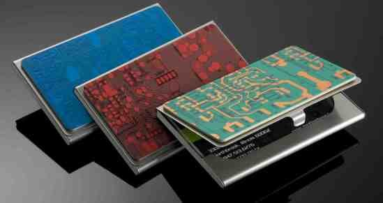Business Card Case Circuit board case will hold 10-15 of your business cards