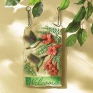 humming bird welcome sign