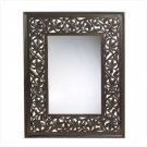Carved leaf framed mirror