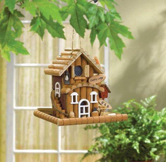 country lodge bird feeder