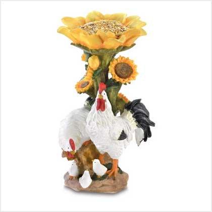 Country chicken bird feeder