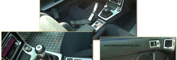 Audi TT 01-04 Front and Rear Polished Diamond Plate Aluminum Floor Mats