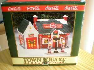 """Coca-Cola Town Square Collection Flying """"A"""" Service Station 1994"""