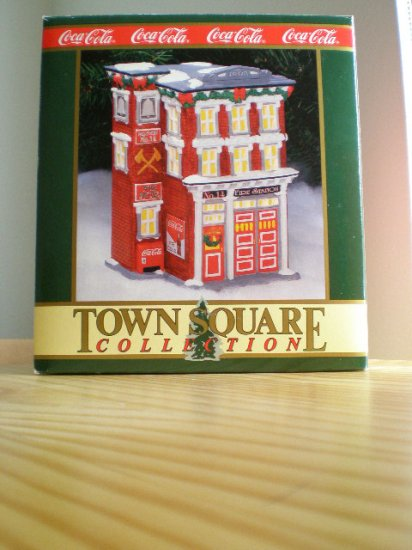 Coca-Cola Town Square Collection Station #14 Firehouse 1994