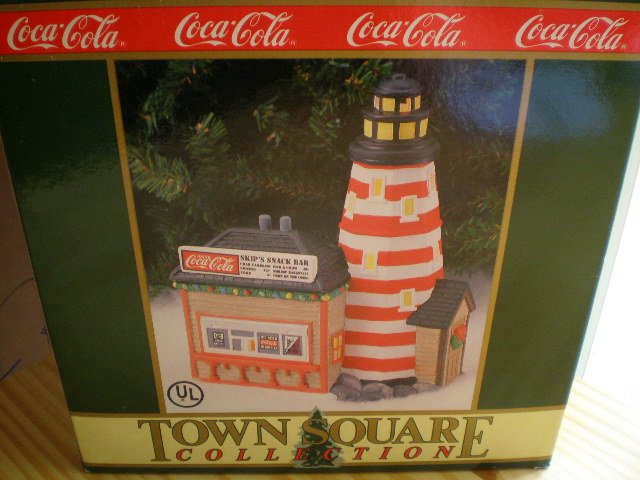 Coca-Cola Town Square Collection Lighthouse Point Snack Bar 1995