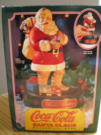Coca-Cola Santa Claus Mechanical Bank #1 in the Series 1993