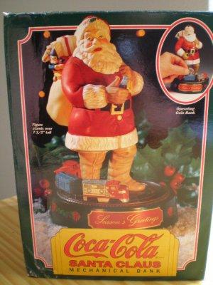 Coca-Cola Santa Claus Mechanical Bank #1 in the Series 1993