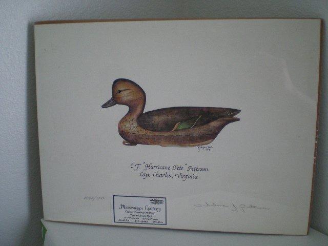 "Duck Decoy Print by E.J. ""Hurricane Pete"" Peterson"