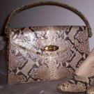 Vintage 1960'2 REAL PYTHON Handbag