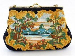 Vintage Petit Point Evening Bag