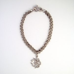 White Gold Diamond OM Bracelet