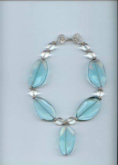 Modern Blue Glass Necklace
