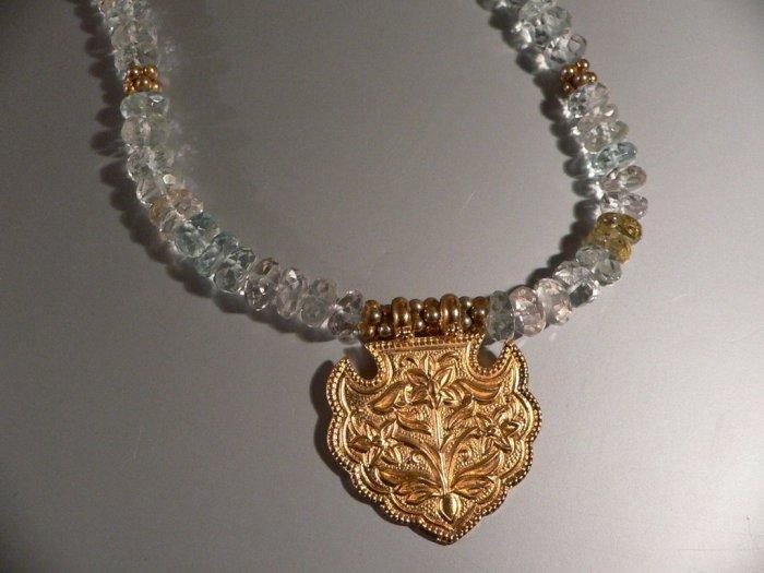 SERENITY Necklace of Blue Aquamarine