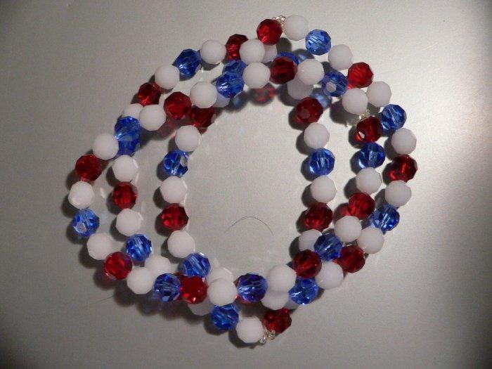 Bracelet Red White Blue Swarovski SET