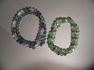 Bracelet Lavender and Green Swarovski