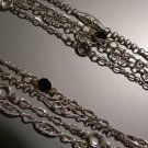 "50"" Sterling Silver 4 strand Necklace"
