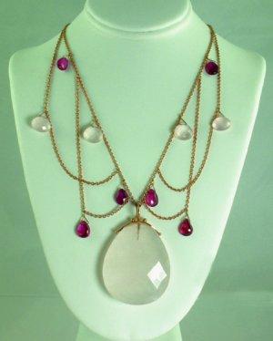 Large Rose Quartz Necklace