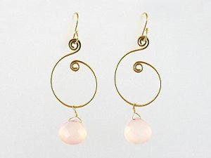 Gold S-Shaped Earwires